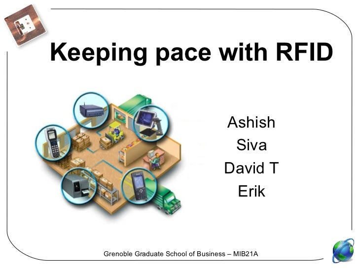 Keeping pace with RFID Ashish Siva David T Erik Grenoble Graduate School of Business – MIB21A