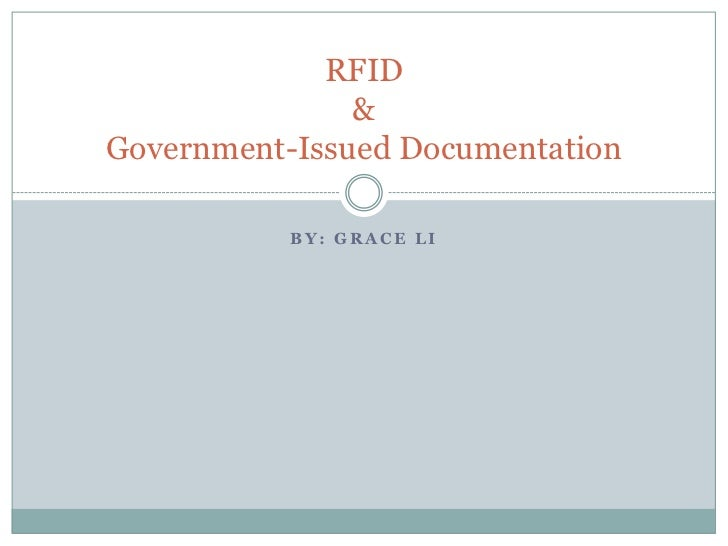 RFID & Government Issued Documentation