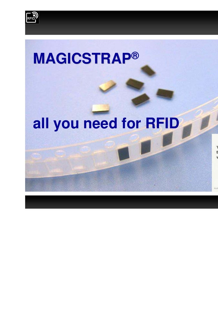 MAGICSTRAP®all you need for RFID                        Confidential                                                      ...