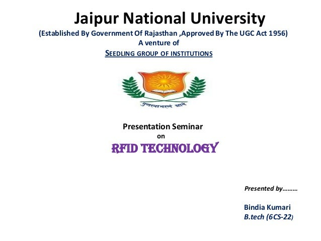 Jaipur National University(Established By Government Of Rajasthan ,Approved By The UGC Act 1956)A venture ofSEEDLING GROUP...