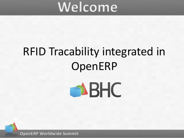 RFID Tracability integrated in OpenERP