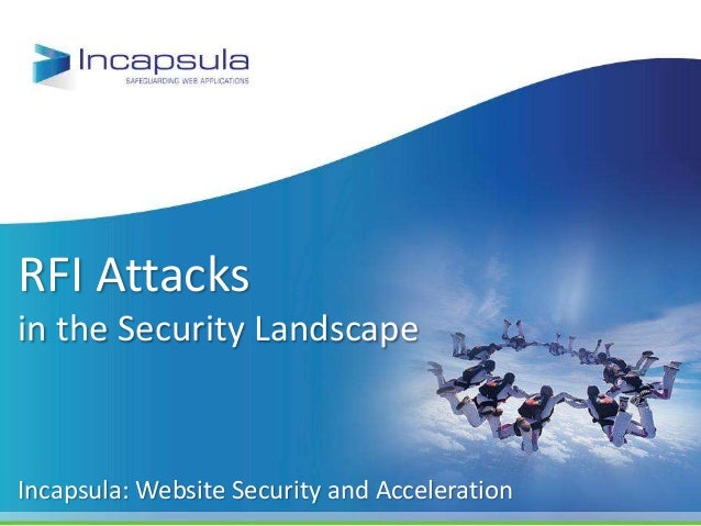 RFI Attacks in the Security Landscape Incapsula: Website Security and Acceleration