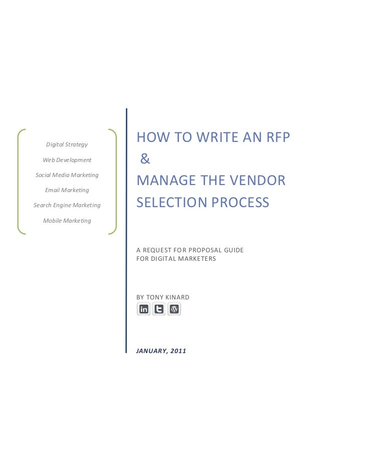 Digital Strategy                          HOW TO WRITE AN RFP  Web Development          &Social Media Marketing   Email Ma...