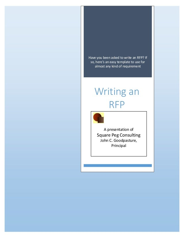 Have you been asked to write an RFP? If so, here's an easy template to use for almost any kind of requirement Writing an R...