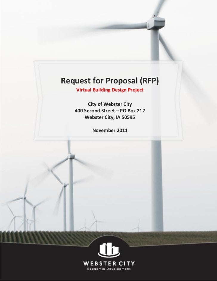 Request for Proposal (RFP)    Virtual Building Design Project         City of Webster City   400 Second Street – PO Box 21...