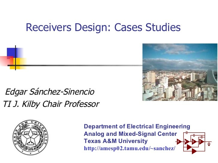 Rf receiver design case studies