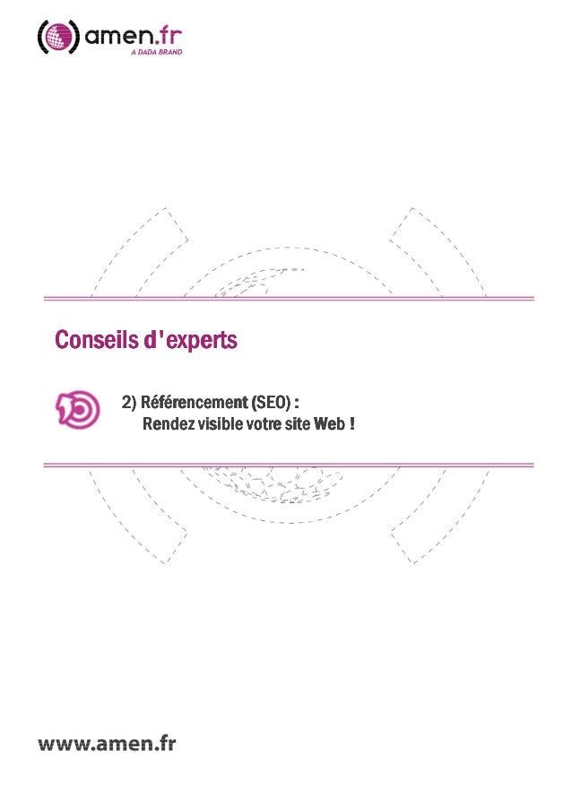 Conseils dexpertsConseils dexpertsConseils dexpertsConseils dexperts2)2)2)2) Référencement (SEO) :Référencement (SEO) :Réf...