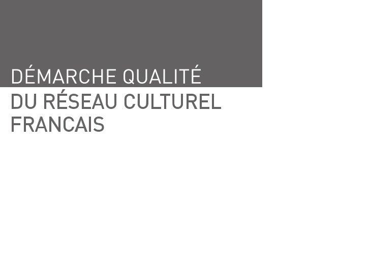 Référentiel démarche qualité Alliance Française