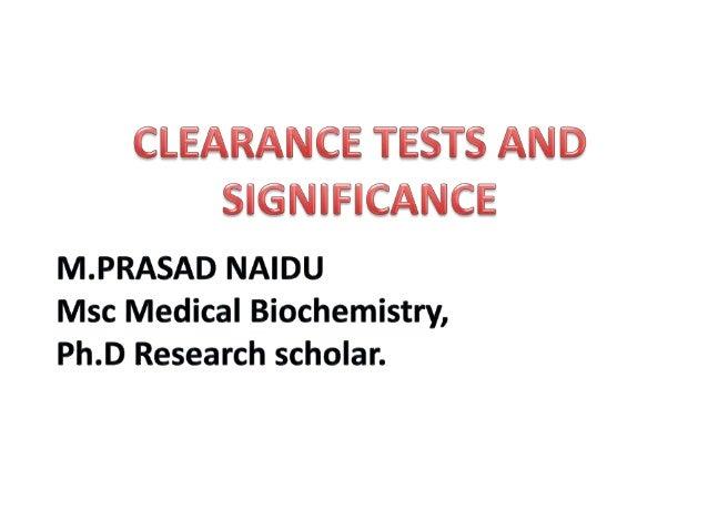 creatinine clearance test