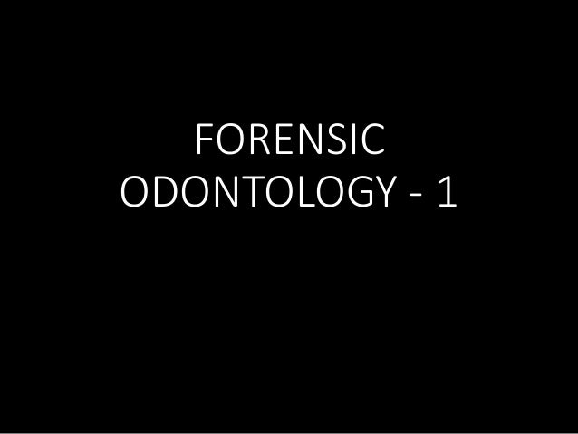 sex determination in forensic odontology Journal of forensic biomechanics is believed to publish the most authenticated review articles in forensic odontology with the support of eminent editoria.