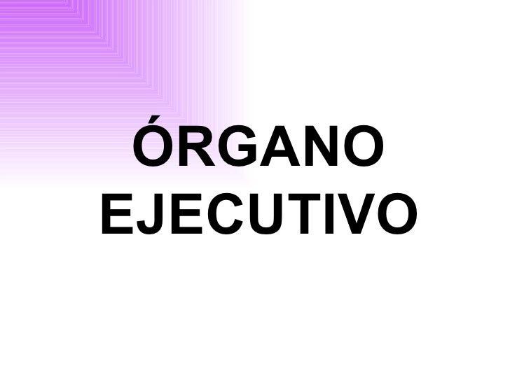 óRgano Ejecutivo