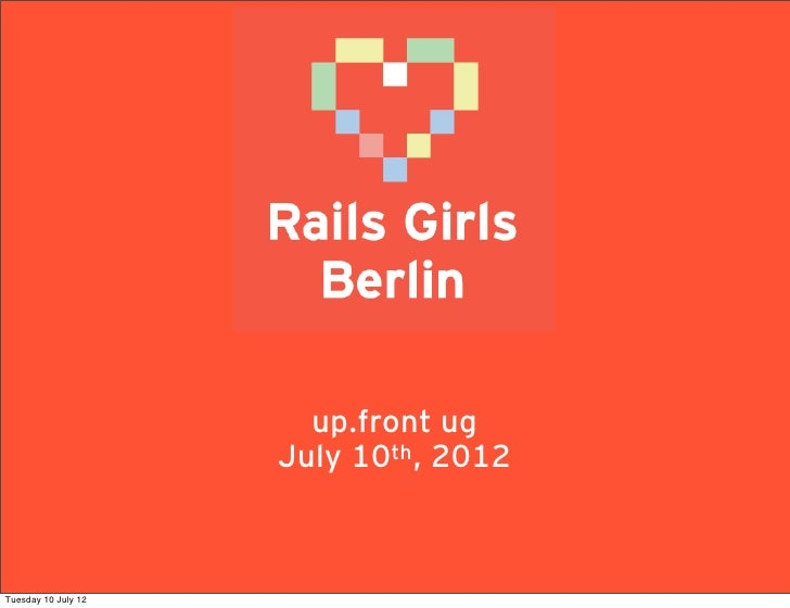 Rails Girls Berlin at up.front ug 28