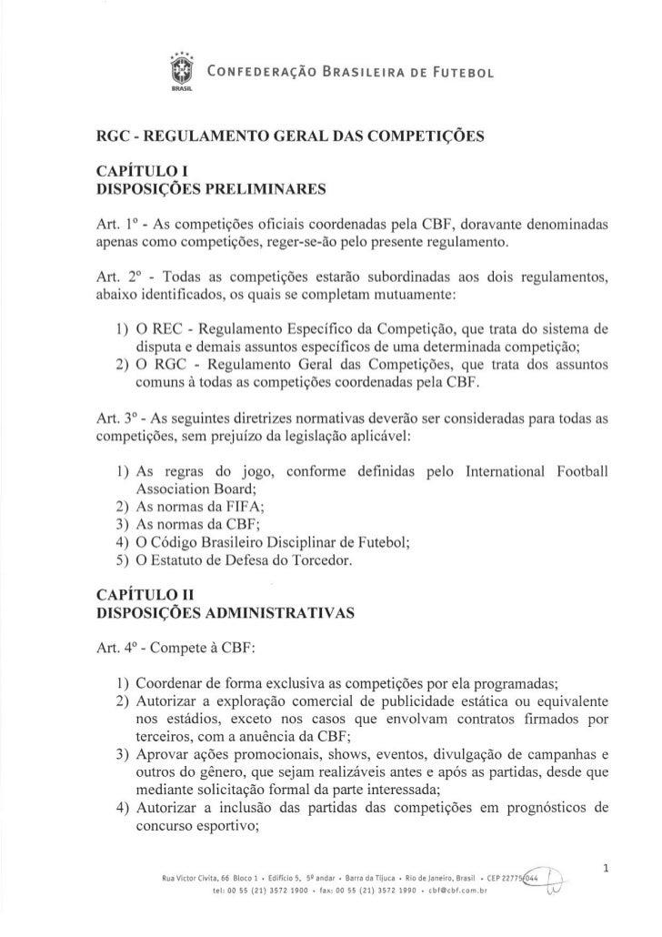 Regulamento Geral das Competições 2012