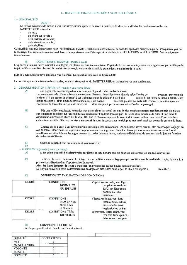 Réglement Epreuves JagdTerrier (SCC)