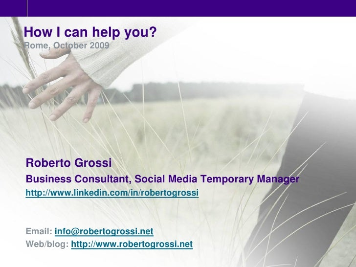 Roberto Grossi - Business and Social Media Consultant - Italy
