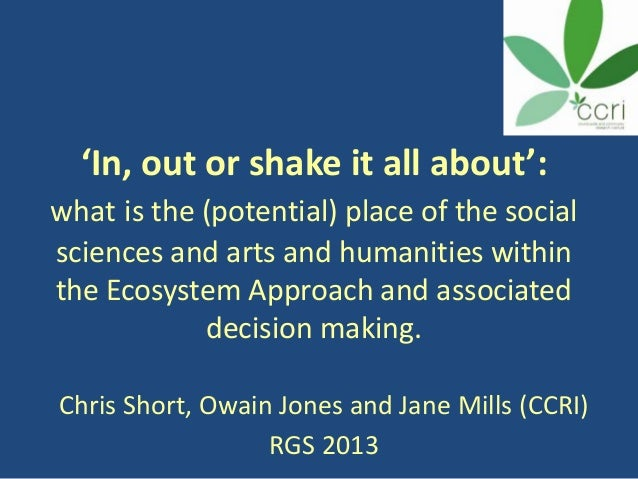 RGS Presentation - An Ecosystem Approach to Environmental Decision Making