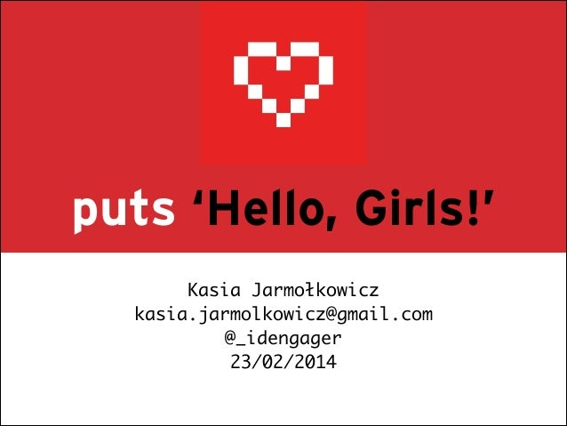 Kasia Jarmołkowicz for Rails Girls Warsaw III - lightning talk