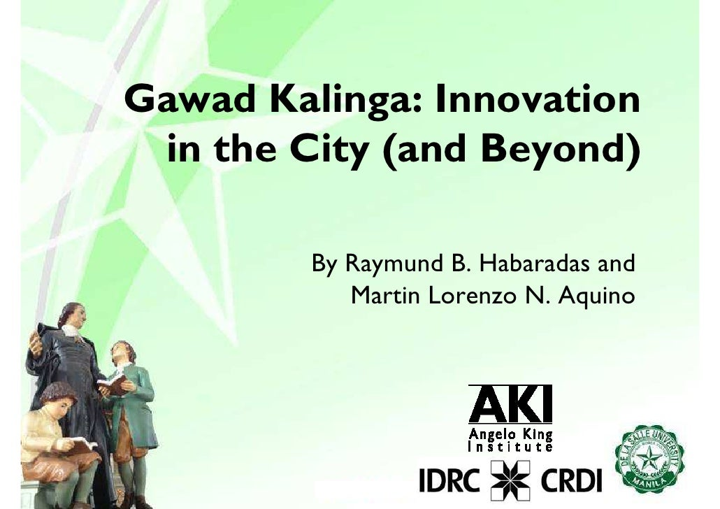 Rh gawad kalinga-innovation in the city and beyond