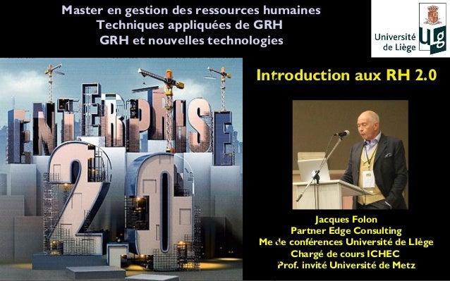 Master en gestion des ressources humaines                        Techniques appliquées de GRH T                        GRH...