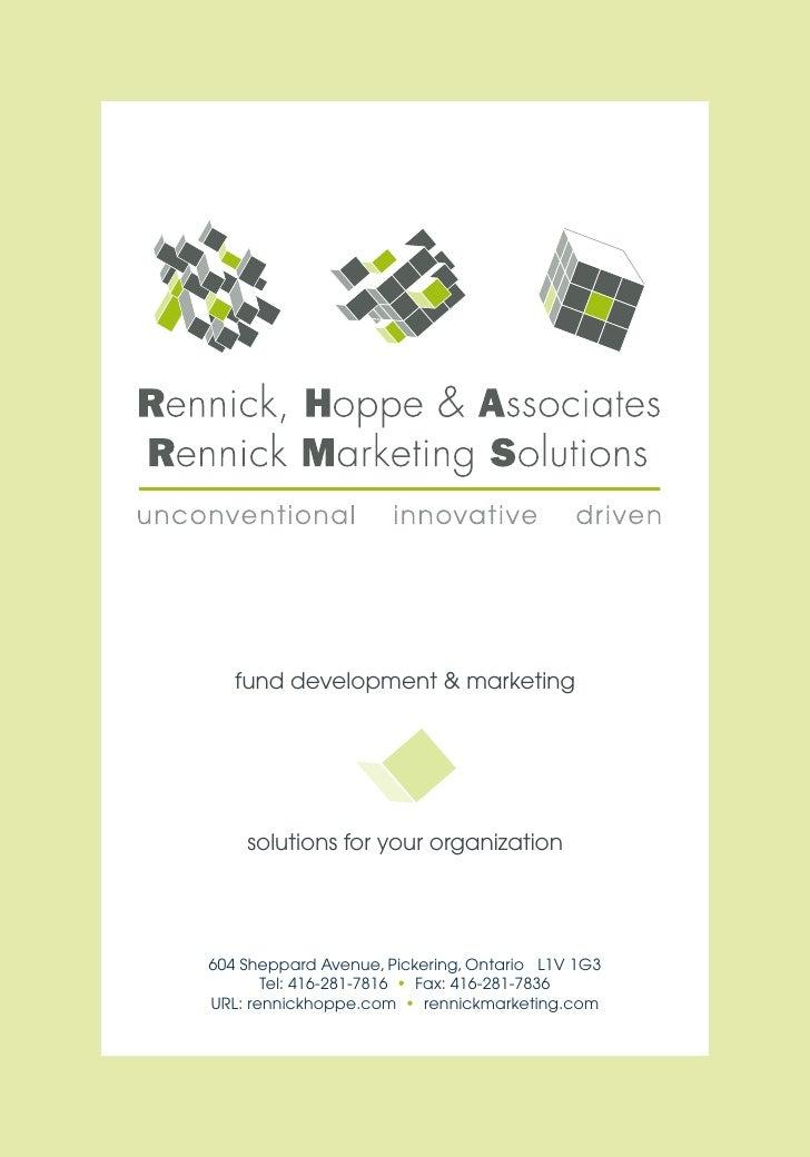 fund development & marketing         solutions for your organization     604 Sheppard Avenue, Pickering, Ontario L1V 1G3  ...