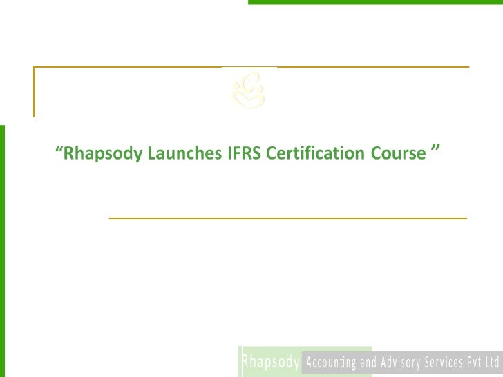 Rhapsody Launches IFRS Training programme