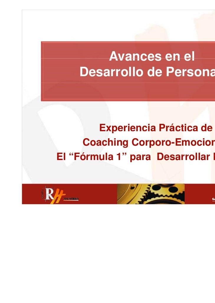 RH ASESORES encuentro profesional 07/06/2011 - Coaching Corporoemocional