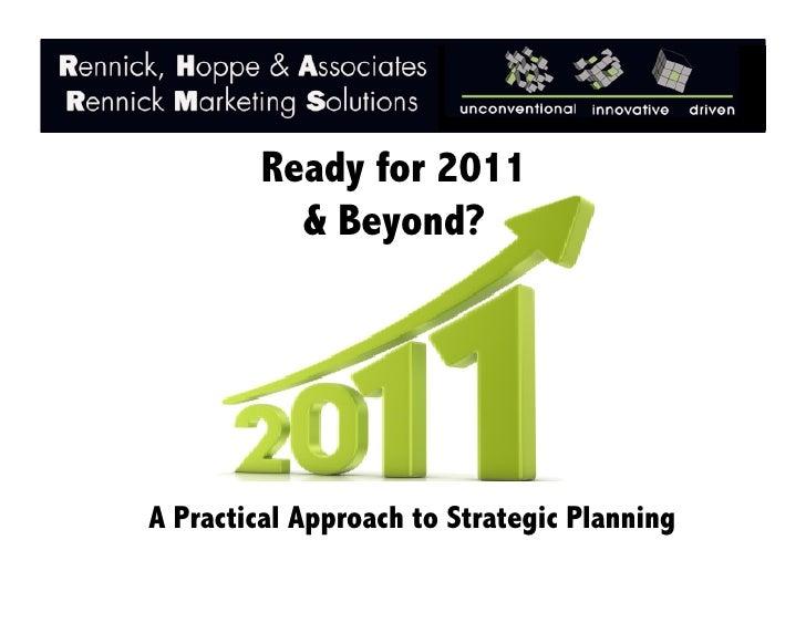 RHA: Strategic Planning 2011- Are You Ready?