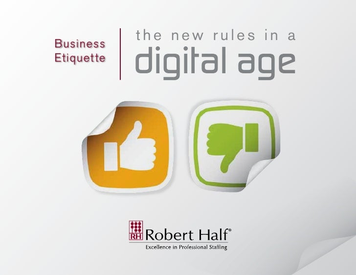 Business             the new rules in aEtiquet te             digital age