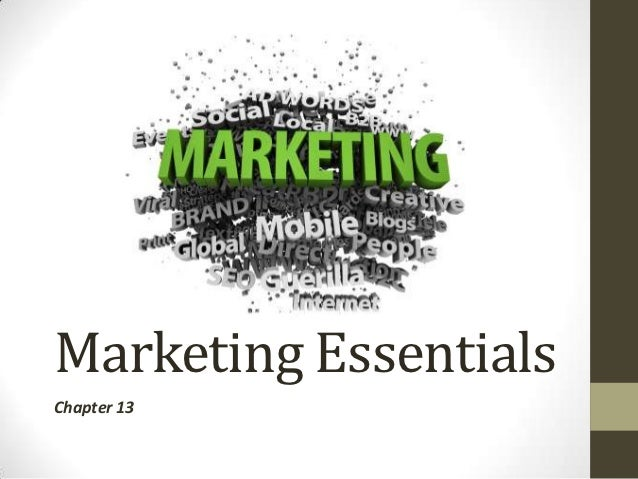Marketing EssentialsChapter 13