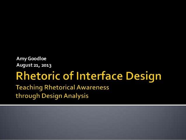 The Rhetoric of Interface Design