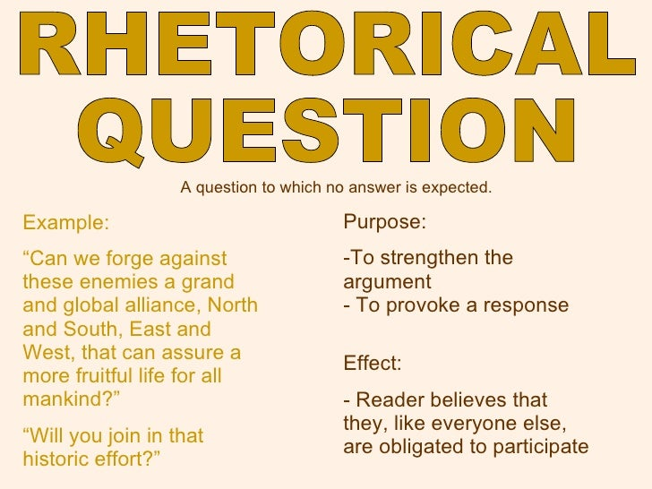rhetorical question literary definition