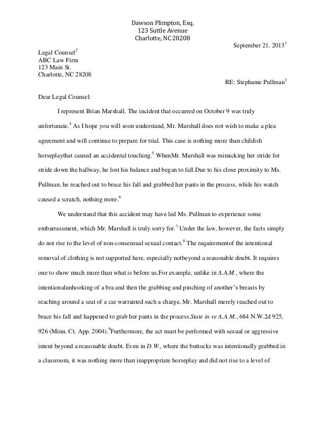 Attorney Letter To Opposing Counsel