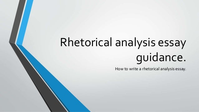 What is a rhetorical essay