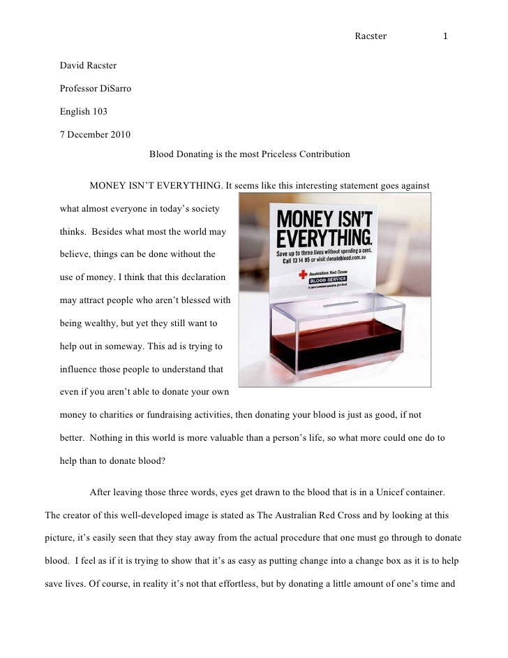 Advertise Analysis Essay