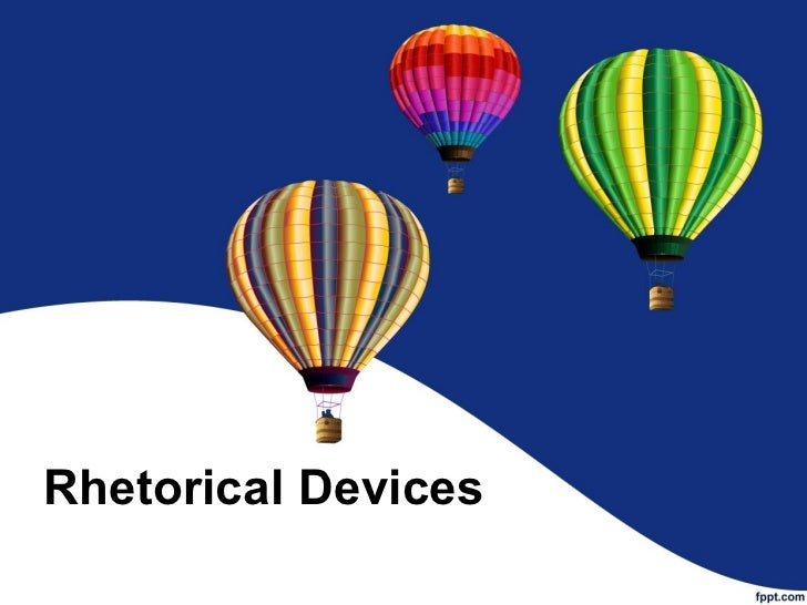 What is a rhetorical device?