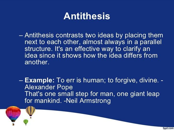 parallelism chiasmus antithesis