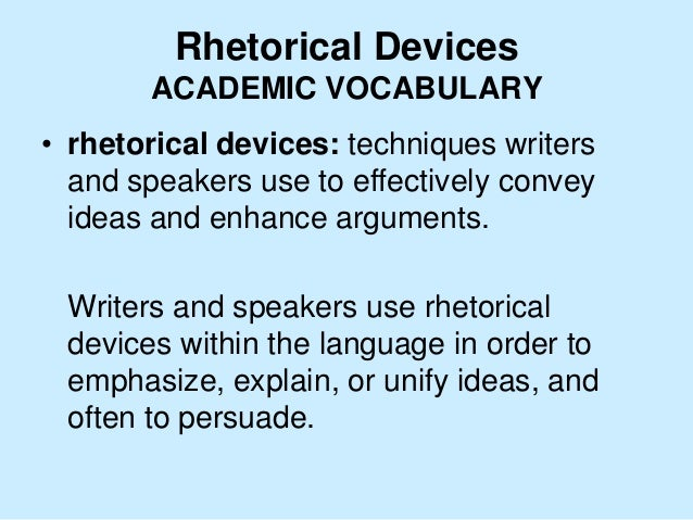 Glossary of rhetorical terms