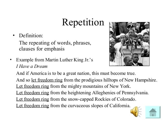I have a dream rhetorical devices