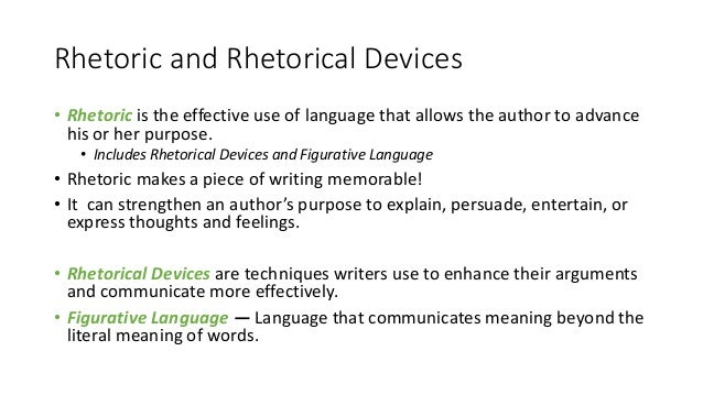 on the rhetorical devices of english
