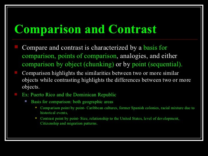 compare and contrast puerto rico vs