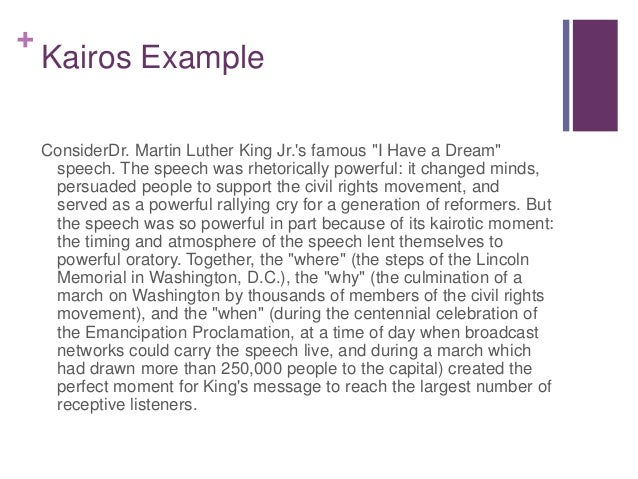 How to use kairos in an essay
