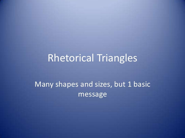 Rhetorical triangles