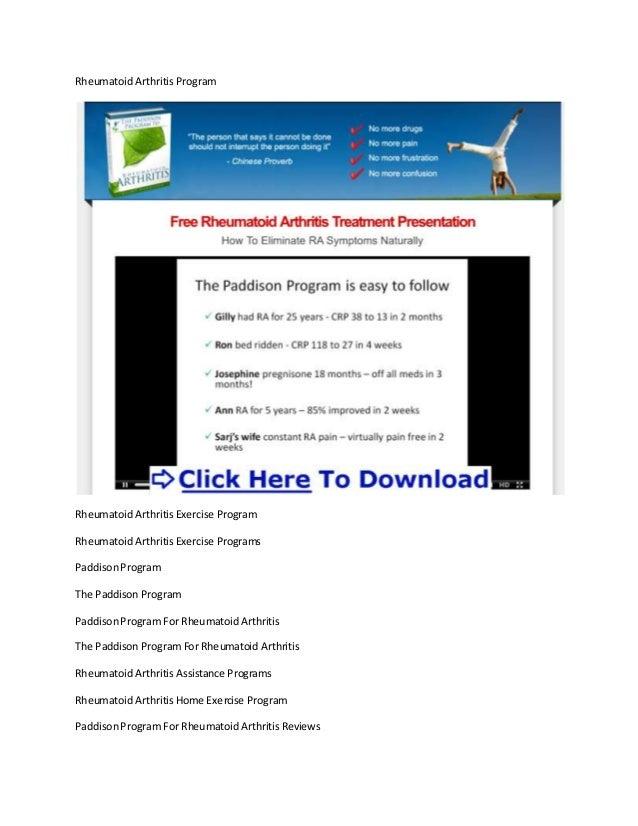 Rheumatoid Arthritis ProgramRheumatoid Arthritis Exercise ProgramRheumatoid Arthritis Exercise ProgramsPaddisonProgramThe ...
