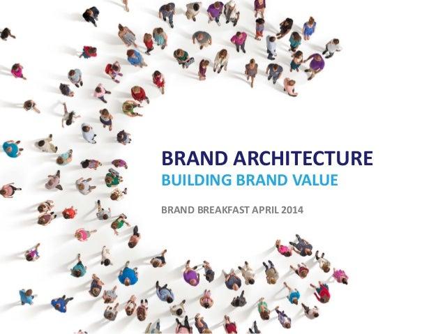 BRAND ARCHITECTURE BUILDING BRAND VALUE BRAND BREAKFAST APRIL 2014