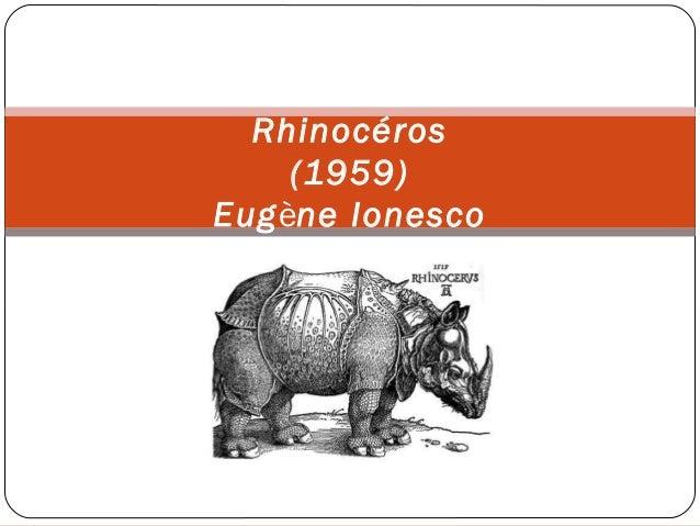 Rhinocéros (1959) Eugène Ionesco