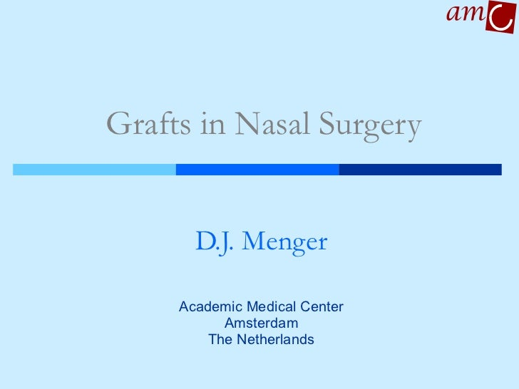 Grafts in Nasal Surgery D.J. Menger Academic Medical Center Amsterdam The Netherlands