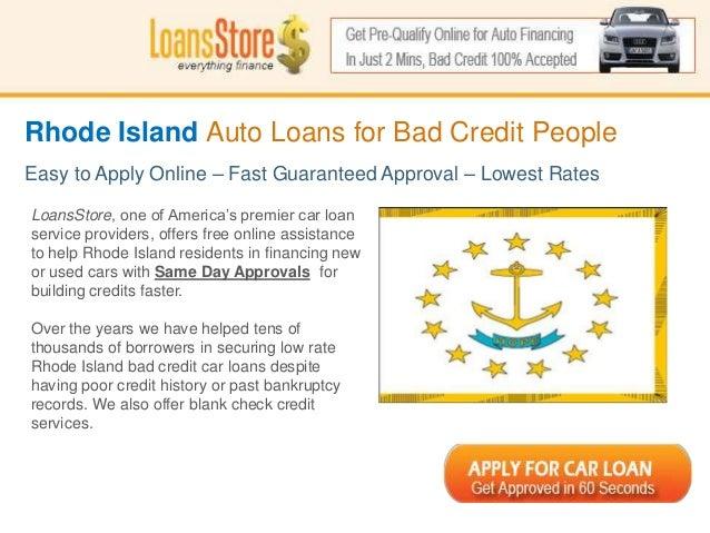 Bad Credit Personal Loans In Rhode Island