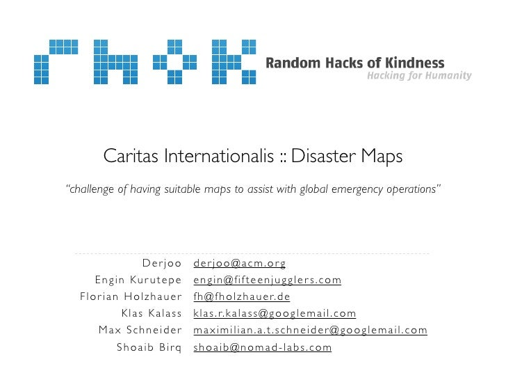 "Caritas Internationalis :: Disaster Maps""challenge of having suitable maps to assist with global emergency operations""    ..."