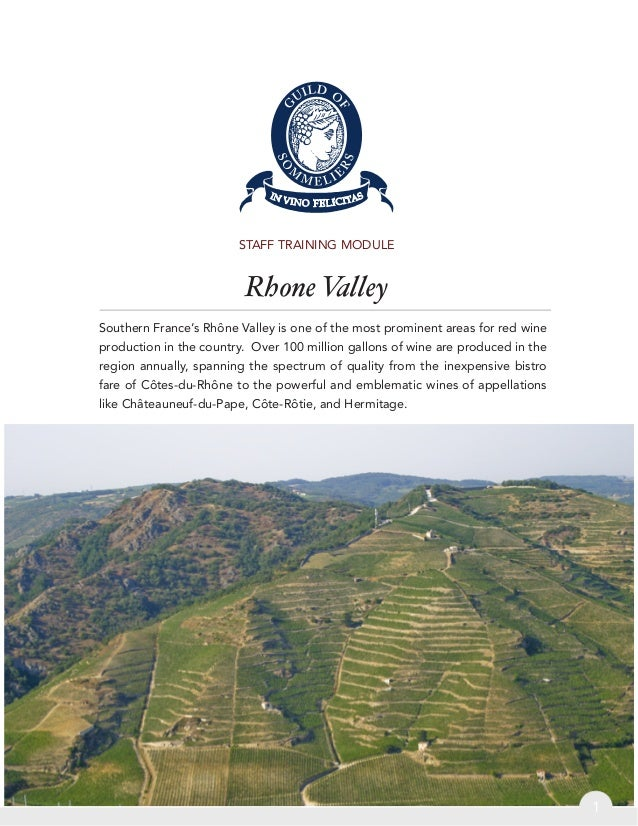 Rhone Valley - Guild of Sommeliers