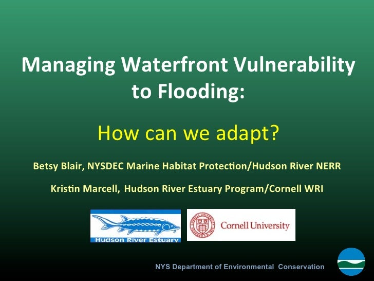 """Policy Options for Managing Waterfront Vulnerability to Flooding"" by Betsy Blair"
